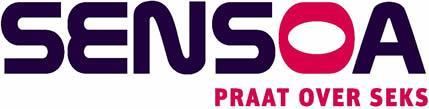 Logo Sensoa met baseline Praat over seks