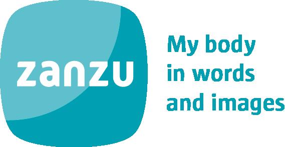 logo zanzu.be met baseline in het Engels - kleur