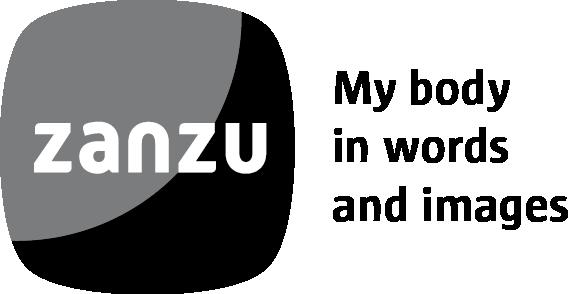logo zanzu.be met baseline in het Engels - monotoon